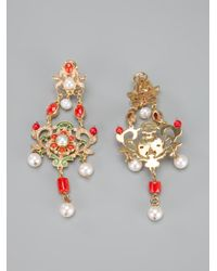 Percossi Papi - Metallic Chandelier Earrings - Lyst