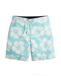 Brooks Brothers - Green Hibiscus Board Shorts for Men - Lyst