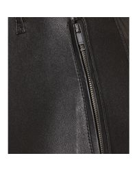 Burberry Brit - Black Paneled Leather Trousers - Lyst
