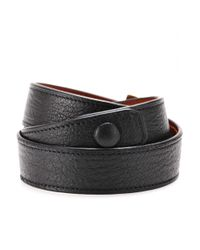 Givenchy | Black Obsedia Leather Wraparound Bracelet | Lyst