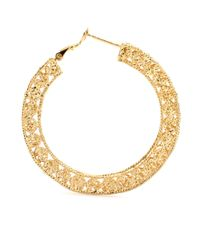 Isharya | Metallic Goldplated Hoop Earrings | Lyst
