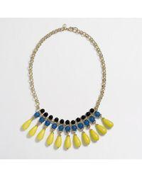 J.Crew - Gray Factory Multicolor Teardrop Necklace - Lyst