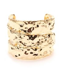 Marc By Marc Jacobs - Metallic Textured Cuff Bracelet - Lyst