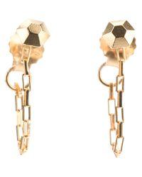 RebekkaRebekka | Metallic Diamond Chain Earrings | Lyst