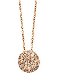 Astley Clarke - Pink Rose Gold Grey Diamond Pillow Pendant Necklace - Lyst