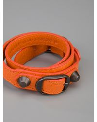 Balenciaga - Orange Arena Classic Bracelet - Lyst