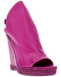 Balenciaga | Purple Wedge Boot | Lyst