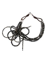 Brunello Cucinelli - Black Riolite Bow Necklace - Lyst