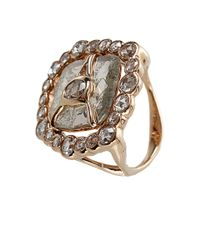 Federica Rettore | Metallic Flat Diamond Slice Ring | Lyst