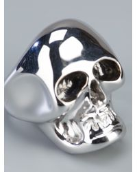 Gavello - Metallic Gold Skull Ring for Men - Lyst