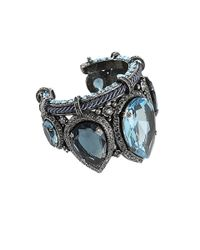 Lanvin - Blue Large Marquise Stone Cuff - Lyst