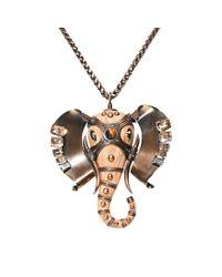 Lanvin | Metallic Embellished Elephant Choker | Lyst