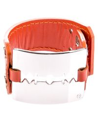 McQ | Orange Leather Razor Bracelet | Lyst