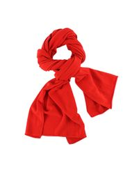 Michael Kors | Red Cashmere Scarf | Lyst