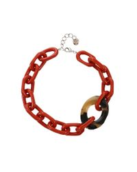 Pono | Red Resin Oval Link Choker | Lyst