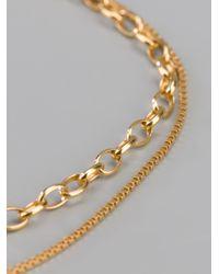 RebekkaRebekka - Metallic Twin Chain Bracelet - Lyst