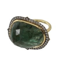 Sylva & Cie | Green Thorn Shape Emerald Ring | Lyst