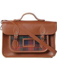 Cambridge Satchel Company - Brown The Tartan Satchel 14 for Men - Lyst