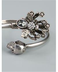 Alexander McQueen - Metallic Twin Skull Bee Bracelet - Lyst