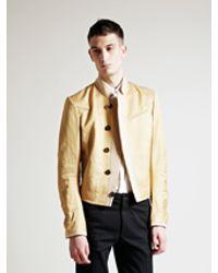 Ann Demeulemeester - Mens Natural Tapioca Jacket for Men - Lyst