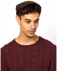 ASOS - Natural Flat Cap in Waxed Fabric for Men - Lyst