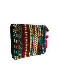 ASOS - Multicolor 15 Laptop Case in Aztec with Pom Pom - Lyst