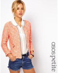 ASOS   Orange Blazer in Fluro Boucle   Lyst