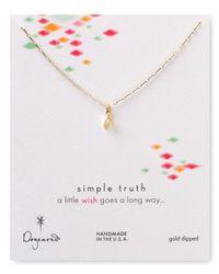 Dogeared - Metallic Simple Truth Wishbone Necklace 16 - Lyst