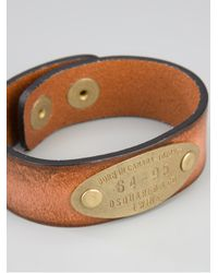 DSquared² - Brown Plaque Detail Bracelet for Men - Lyst