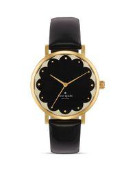 kate spade new york | Scallop Black Metro Watch, 34mm | Lyst
