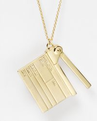 kate spade new york - Metallic Cinema City Clapper Pendant Necklace  - Lyst
