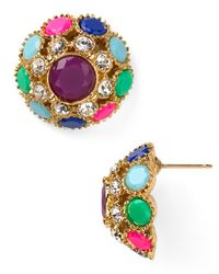 kate spade new york | Multicolor Puttin On The Ritz Stud Earrings | Lyst