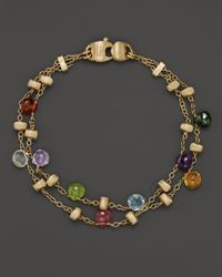 Marco Bicego | Yellow Paradise Two-strand Mixed Sapphires Bracelet | Lyst