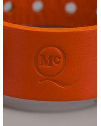 McQ | Orange Embossed Leather Bracelet | Lyst