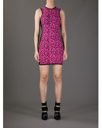 McQ | Pink Textured Bodycon Dress | Lyst