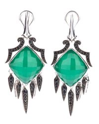 Stephen Webster | Green Silver Drop Earrings | Lyst