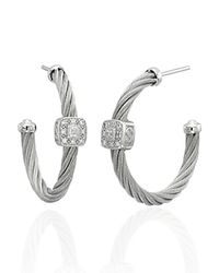Charriol - Metallic Classique Hoop Earrings - Lyst