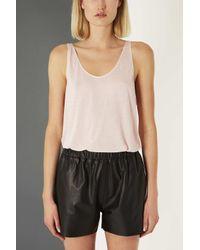 TOPSHOP - Pink Premium Cashmere Vest By Boutique - Lyst