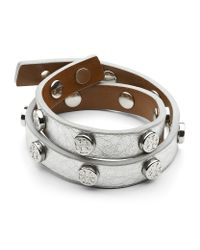 Tory Burch - Metallic Double Wrap Bracelet - Lyst