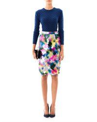 Erdem - Multicolor Aysha Pailletteembellished Floralprint Silk Skirt - Lyst