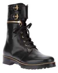 Sergio Rossi - Black Zip Trim Boot - Lyst