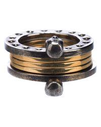 Alexander McQueen - Metallic Bearing Style Ring - Lyst