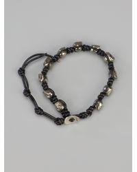 Chan Luu - Black Pyrite Skull Bracelet - Lyst
