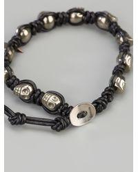 Chan Luu | Black Pyrite Skull Bracelet | Lyst