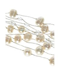 Kit Heath | White Multistrand Bracelet with Freshwater Pearls And | Lyst