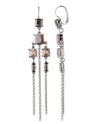 Dyrberg/Kern - Gray Werdina Silver Grey Earrings - Lyst