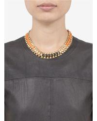 Ela Stone - Metallic Rowina Coloured Thread Stud Necklace - Lyst