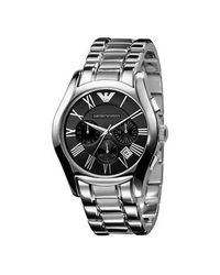 Emporio Armani | Metallic Stainless Steel Watch for Men | Lyst