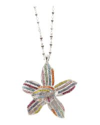 Gemini | Multicolor Haute Couture Pendant with Swarovski Crystals | Lyst