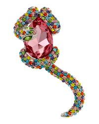 Gemini | Multicolor Snake and Pearl Brooch | Lyst